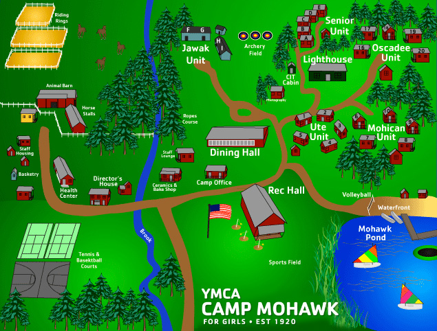 Camp Mohawk Summer Camp for Girls Map